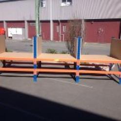 3 bay packing bench